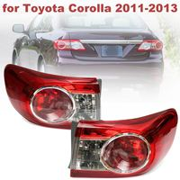 TO2804111 81560 02580 Replacement Pair Red Rear Left Right Side Tail Lights Brake Lamps For