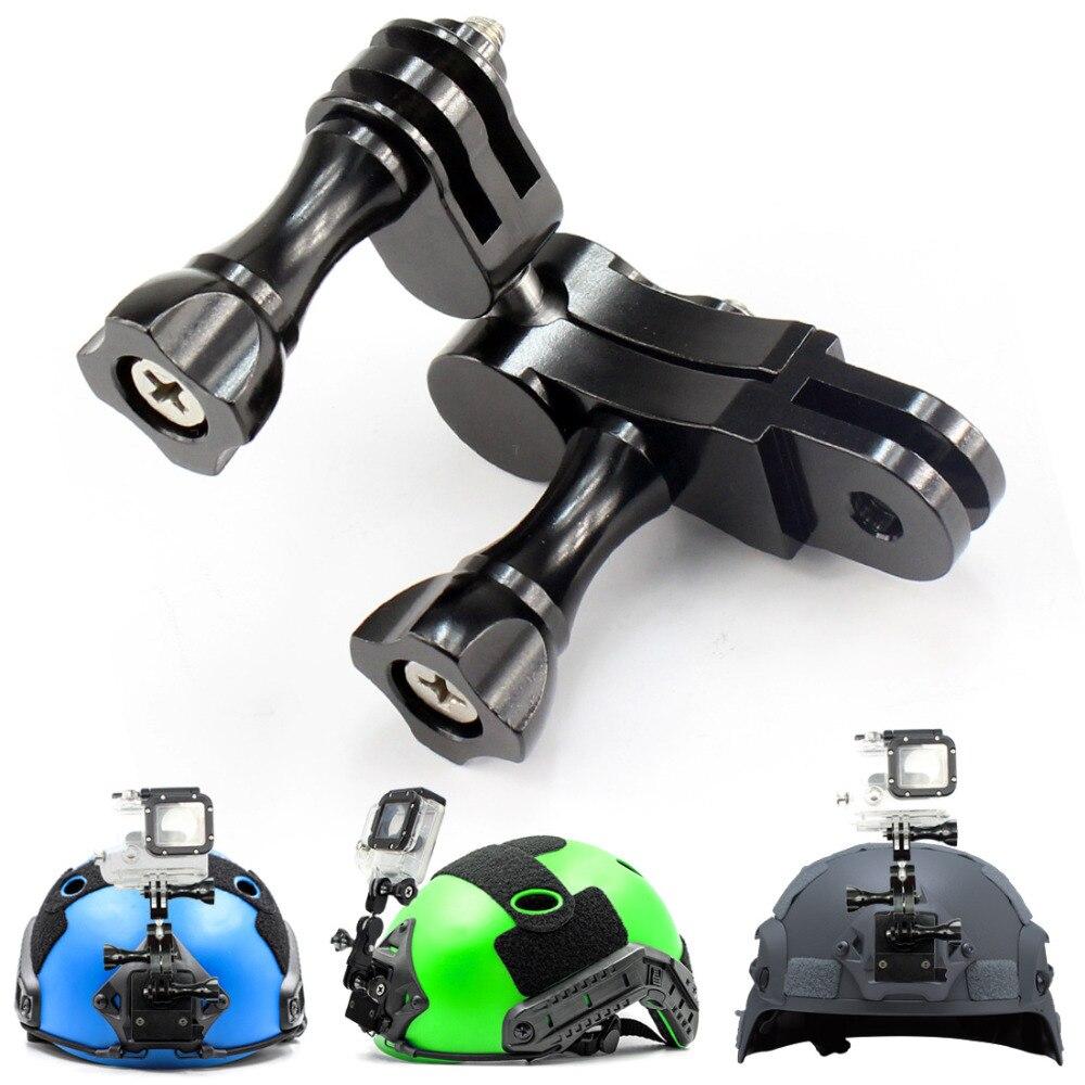 Universal Aluminium 360 Degree Swivel Rotating Tripod Mount Adapter Head Pivot Arm Connector For GoPro Hero 4 3+ 3 SJCAM xiaoyi