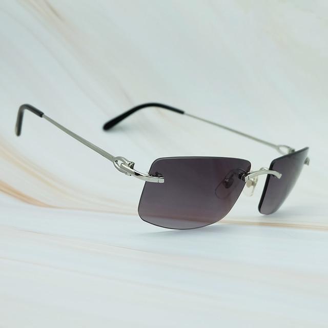 $ US $33.00 New Popular Unisex Rimless Metal Sunglasses Men Women Brand Carter Sunglass UV Protect Retro Vintage Designer Square Glasses