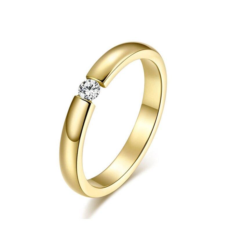Черный Вольфрам кольца для Для женщин розового золота Для мужчин кольца обручальные, ювелирные изделия, со стразами Кольца для женщин покрытые серебром пара аксессуары