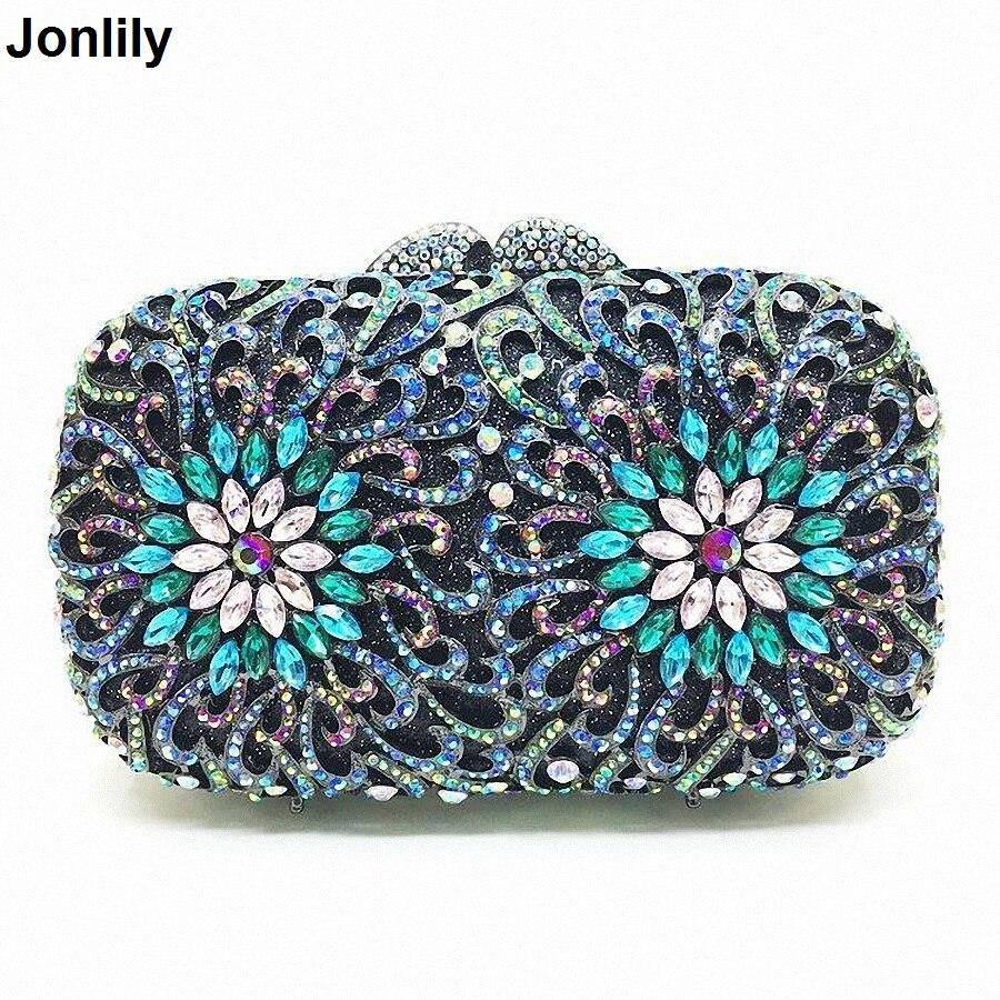 Sac de soirée femme diamant strass embrayages cristal jour pochette portefeuille mariage sac à main fête Banquet LI-1565