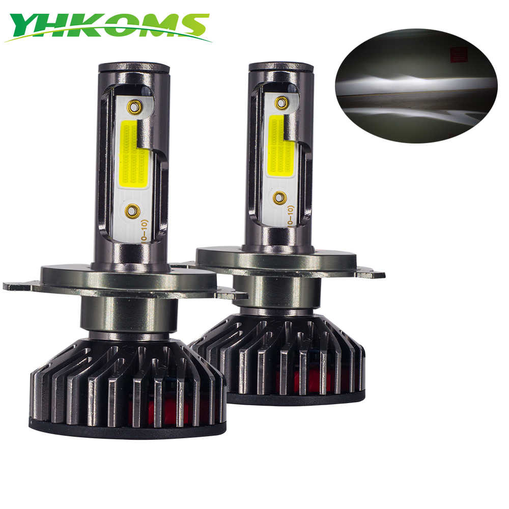 YHKOMS  Led Headlight Bulbs H4 Car Light H7 H1 H8 H9 H11 9005 HB3 9006 HB4 Fog Light 4300K 6500K 5000K 8000K 25000K 12V 24V