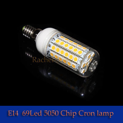 5PCS 220-240V Cool White/Warm White 69pcs LEDs Corn Light  E14 10W SMD5050  69LEDS 990LM --------------Limited Time Offer