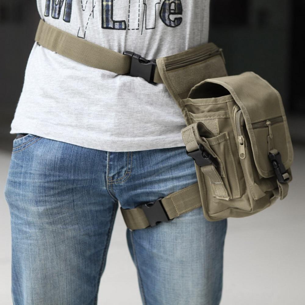 Prix pour 20*15*12 cm Extérieur Étanche Tactique Élégant Militaire Solide Utilitaire Cuisse Poche Taille Ceinture Poche Armes de Sport Jambe de baisse Sac