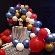 88pcs Red Blue White Party Supplies Latex Balloons for Garland Balloon Arch Ganland Kit Baby Showers Graduations