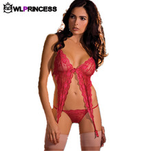 Owlprincess New fashion Novelty Sexy Lingerie lace Bra babydoll Nightdress latex women Costumes sex bodysuit backless Chemises