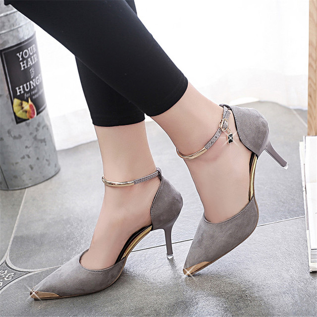 Gamiss Women Suede Leather Pumps High Heels OL Office Pumps Sexy High Heels Shoes Pointed Toe Zapatos Mujer Ladies Wedding Shoes