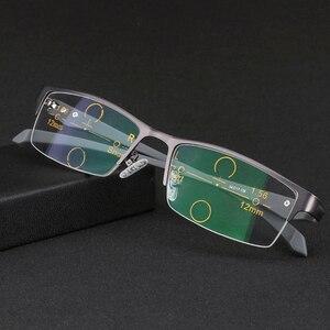 Image 3 - Óculos de leitura multifocal wearkaper, pernas flexíveis, armação metade para presbiopia