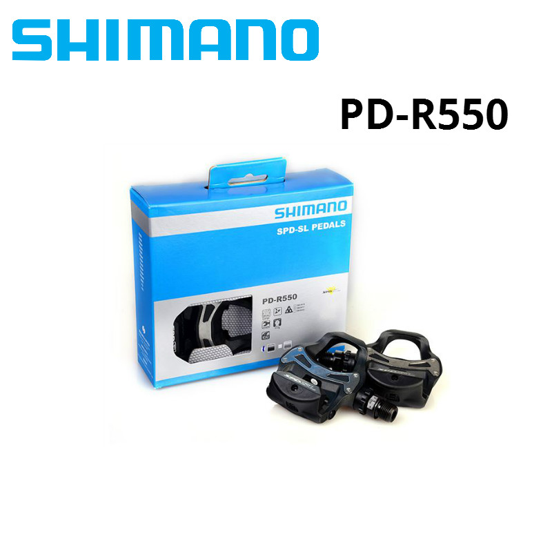 SHIMANO PD R550 Self-Locking SPD Pedals Components Using for Bicycle Racing Road Bike Parts pd-r550SHIMANO PD R550 Self-Locking SPD Pedals Components Using for Bicycle Racing Road Bike Parts pd-r550