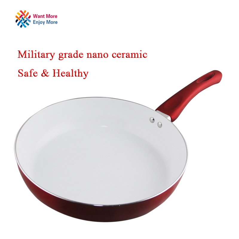 Non-stick Copper Frying Pan With Nanoscale Ceramic Coating And Induction Cooking,Oven & Dishwasher Safe  Panela De Ceramica Pot