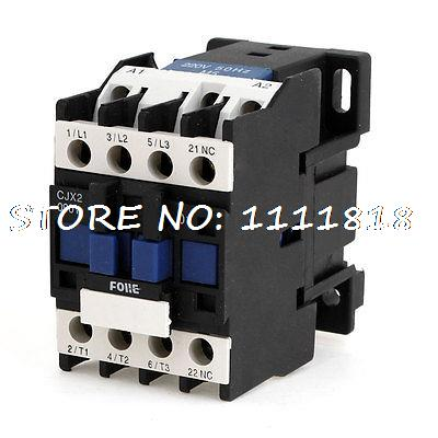 660V 20A 3 Phase 3P N/C AC Contactor DIN Rail Mount 220V Coil CJX2-09 660v 20a 50hz 3 phase 220 230v coil motor 1no ac contactor cjx2 0910