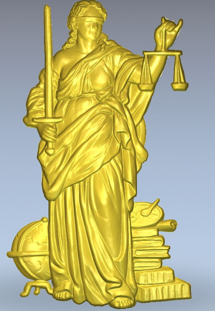3d model relief  for cnc in STL file format Scales of Justice panno hunting 2 for cnc in stl file format 3d model relief
