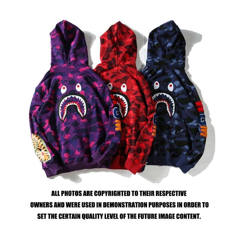 Здесь продается  Bape shark hoodie sweatshirt embroidered shark back bathing ape  Одежда и аксессуары
