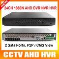 HD 24CH 1080N AHD DVR, 32Ch 1080 P NVR, 8-канальный 1080N + HVR 8-канальный 960 P, 3 в 1 Гибрид NVR DVR P2P Облако Поддержка CCTV AHD Камеры Безопасности