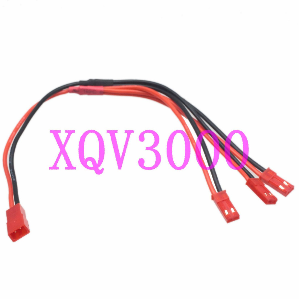JST Female to 3x JST Male Parallel 20AWG Wire for FPV Multicopter Helicopter