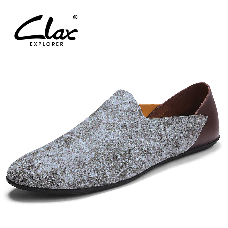 CLAX Men Suede Leather Shoes 2018 Spring Summer Men's Flat Shoe Fashion Casual Footwear Leisure Loafers Soft Lightweight clax men flat casual shoes 2018 spring summer fashion leisure shoe male suede leather loafer slip on breathable walking footwear
