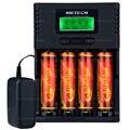 NK VS Soshine H4 H4 Li-ion NiCd NiMh LCD Digital Inteligente 4-Slot Carregador de Bateria com Adaptador EUA UE + 4 pcs 18650 3000 mah