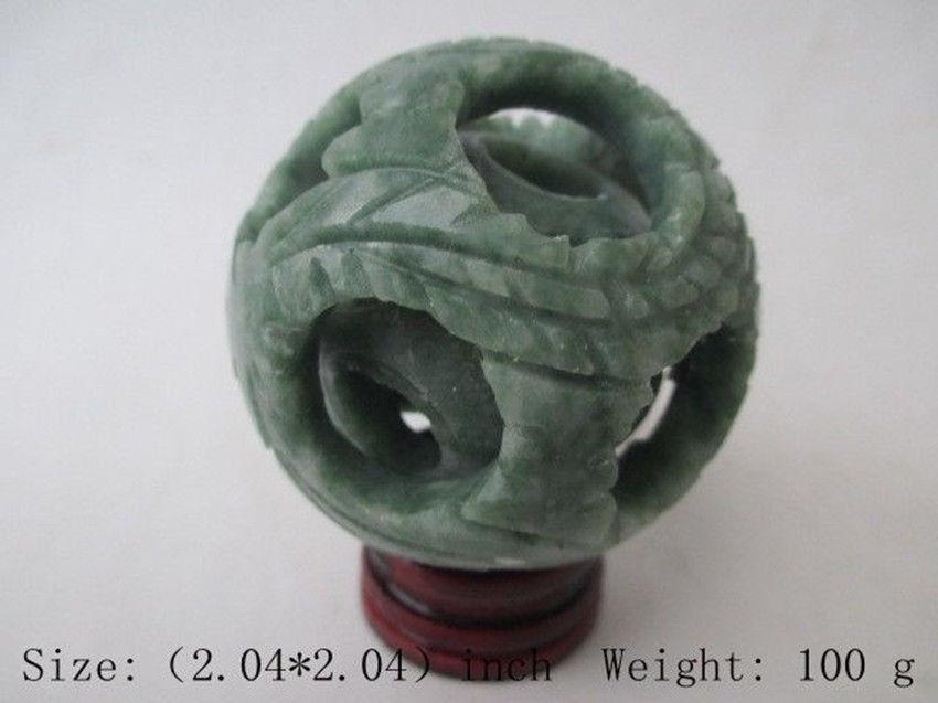 FREE Shipping Chinese Hand Carved Jade Jade Dragon Ball. Ssangyong Play Pearl/stents Mascot  Arts And Crafts