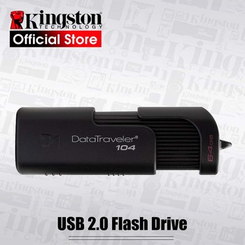 Original Kingston USB Flash Drives 64GB USB 2.0 Pen Drive PenDrives DT104 Business Office Car 64gb clu usb