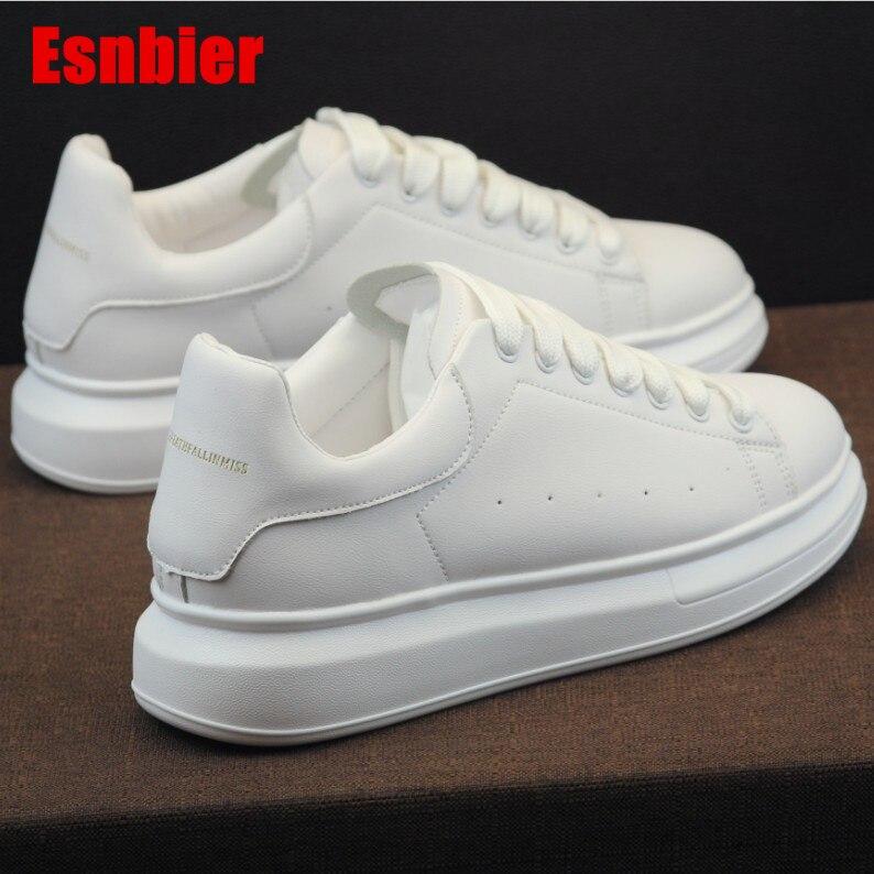 Women Sneakers 2019 Fashion Breathble Vulcanized Shoes Pu Leather Platform Lace Up Casual White Tenis Feminino Zapatos De Mujer
