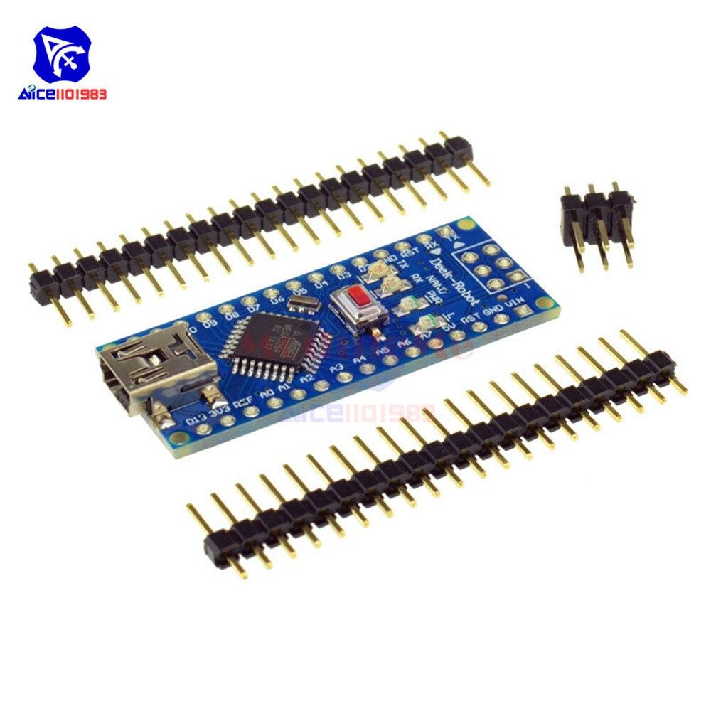 10Pcs Mini USB PL2303TA Nano 4.0 Nano 3.0 ATmega328P Controller Board for Arduino 5V 16M Nano USB Driver DIY Kit Support Win7//10