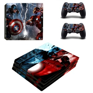 Image 4 - Наклейка на кожу Marvel Iron Man, наклейка на кожу для консоли PlayStation 4 и 2 контроллера PS4 Pro, Виниловая наклейка на кожу