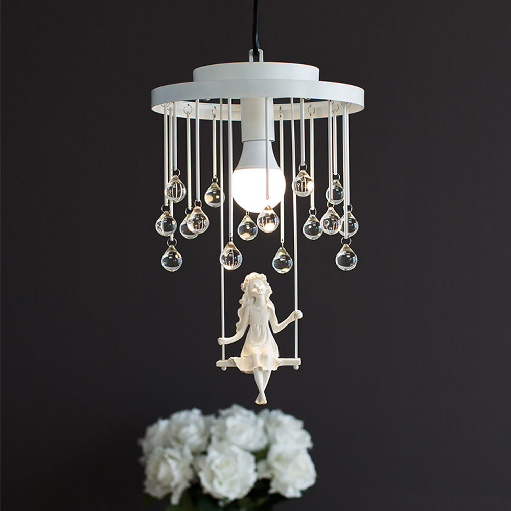 HGHomeart Creative Cartoon Chandeliers LED Crystal Chandelier  Kids Room luminarias Wrought Iron Lamp  Lustre Suspension