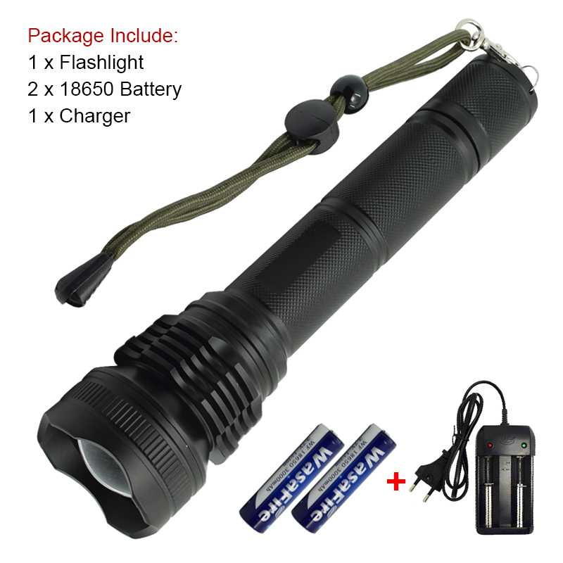 Tactical Super Bright XHP50 Led Flashlight Zoom Torch Powerful 2500lm 5 Modes Highlight Flash Light Lamp+ 18650 Battery +Charger настольная игра piatnik activity для малышей 776441