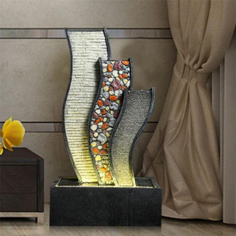 Water Curtain Wall Fountain Water Landscape Furnishings Creative Wind  Turbine Home Room Interior Decoration Resin Crafts In Figurines U0026  Miniatures From Home ...
