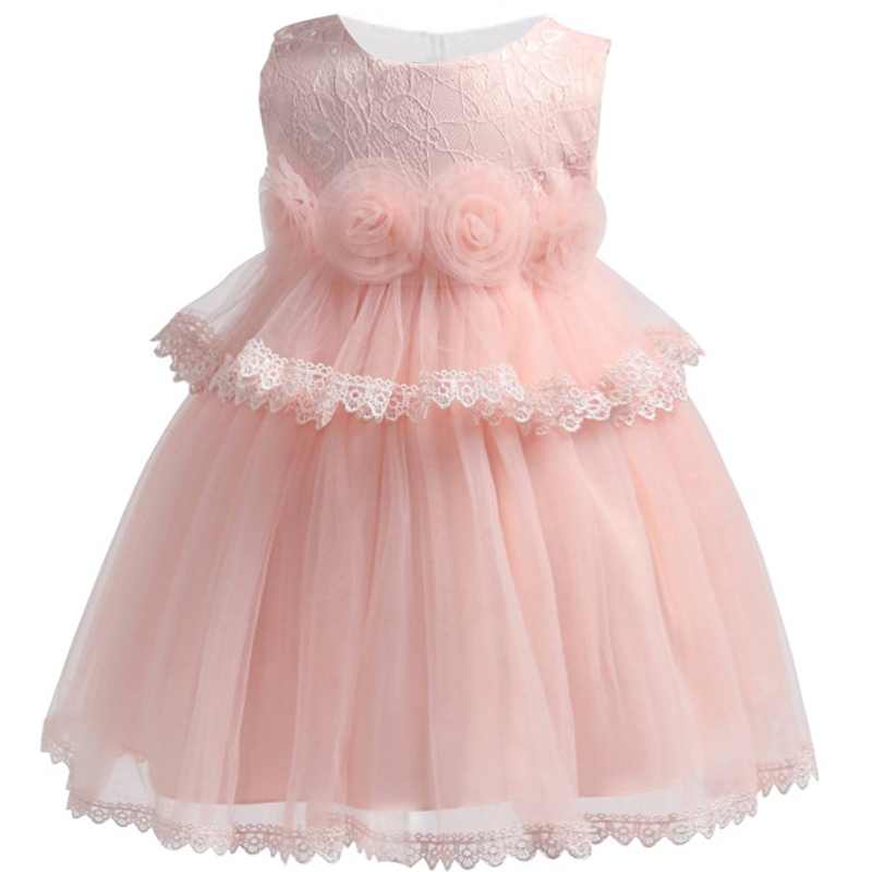 Kids Tutu Birthday Princess Party Dress for Girls Infant Lace Children Bridesmaid Elegant Dress Christening baby Girls Clothes