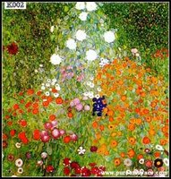 Gustav Klimt Landscape Flower Garden Hand Painted oil Painting On Canvas Wall Art Picture For Living Room Home Decor Or Hotel