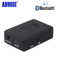 August MR230B B Bluetooth V4 1 Audio Receiver 3 5mm And 2RAC Aux In Wireless Music