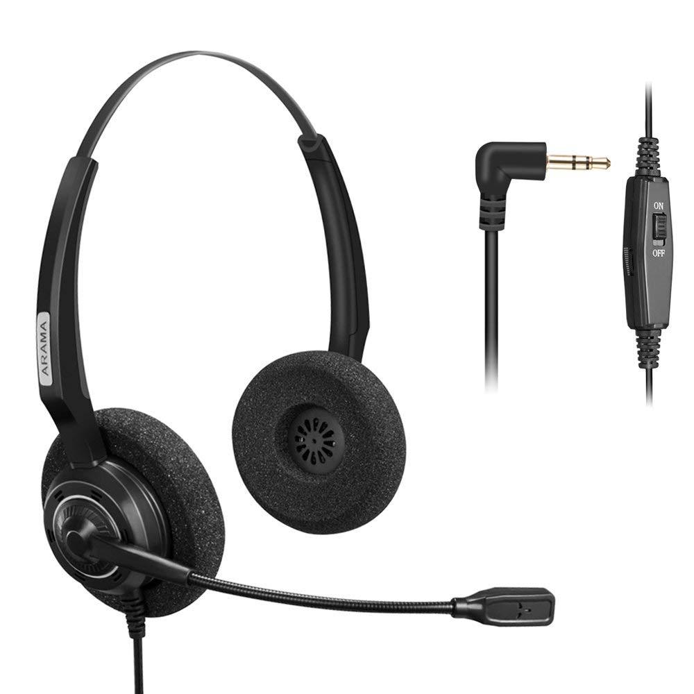 Wantek Arama Telephone Headset With Boom Mic Volume Mute 2 5mm Jack For Cisco Polycom Panasonic Zultys Gigaset Voip Headphones Headphone Headset Aliexpress