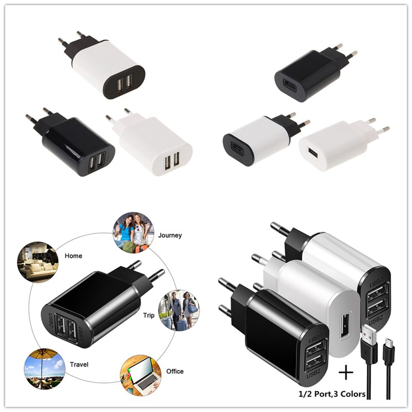 HOME WALL PLUG USB CHARGER TRAVEL POWER ADAPTER MICRO-USB For PHONES /& TABLETS