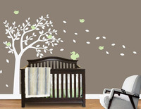 Nursery Wall Decals Blowing Summer Tree Wall Sticker For Boys And Girls Rooms. Custom Made Tree Wall Stickers Home Decor