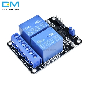 5V Two 2 Channel Relay Module With Optocoupler For Arduino 8051 AVR PIC DSP ARM MSP430 TTL Logic AC 250V 10A DC 30V 10A