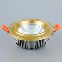 LED Downlight 15W 20W 25W COB golden shell Round Recessed Lamp 220V 230V 240V Led Bulb Bedroom Kitchen Indoor LED Spot Lighting