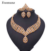 Dubai gold color Jewelry Sets Costume Design Brand Nigerian Wedding Jewelry Set Fashion African Beads Jewelry Sets for Women2019
