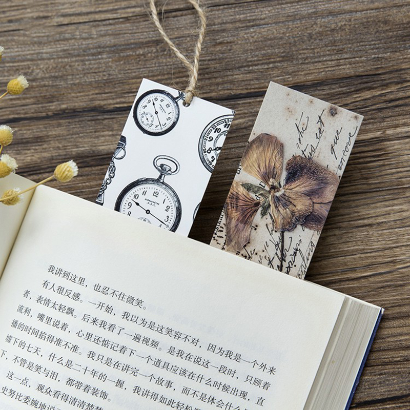 30PCS Retro Collection Bookmark For Books Cartoon Animals Bookmark Paper Promotional Gift Stationery Film Bookmark Message Card