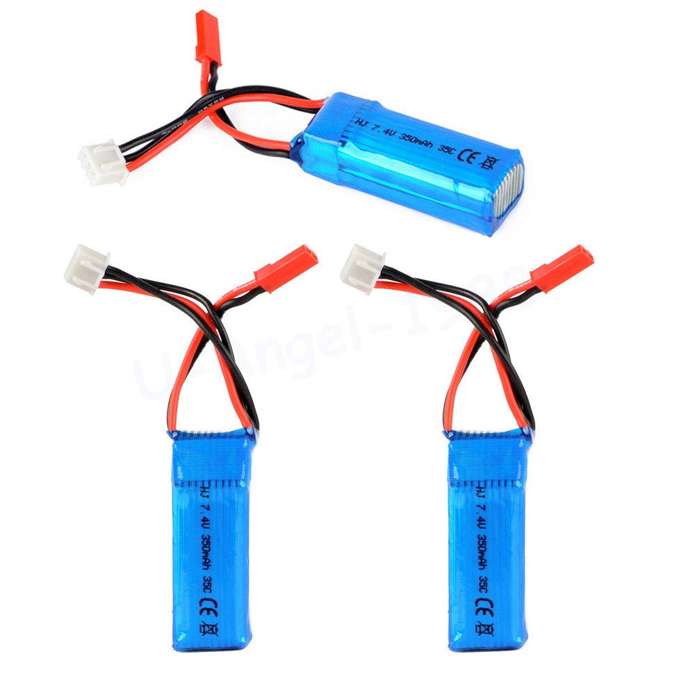 3pcs/lot <font><b>2S</b></font> 7.4V <font><b>350mAh</b></font> 35C Lipo Battery For Mini RC Helicopter Quadcopter Airplane Model DLG1000 F300BL DTS130 image