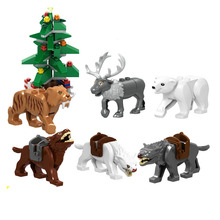 1pc Animal Lord of the Rings Wolf Horse Elepant Mammoth Elk Deer Figure Blocks Compatible Building Brick Toys For Children lord of the rings corps witch king ringwraith king of the dead army mordor action figure building blocks children legoing toys
