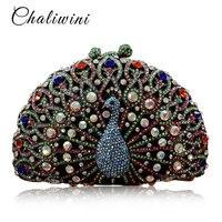 Роскошный павлин кристалл алмаза Для женщин вечерняя сумочка; BS010 вечерние кошелек pochette вечер Для женщин цепи сумки Свадебные сумка Ежеднев
