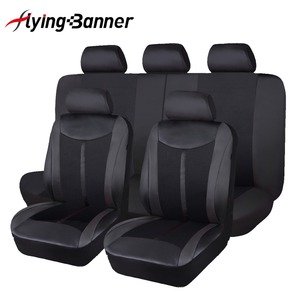 Image 1 - 2020 flying Banner High PU Leather Full Set  Universal Car Seat Cover unversal size for most cars automobiles in hot