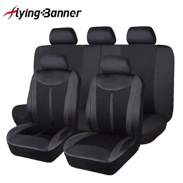 2020 flying Banner High PU Leather Full Set  Universal Car Seat Cover unversal size for most cars automobiles in hot