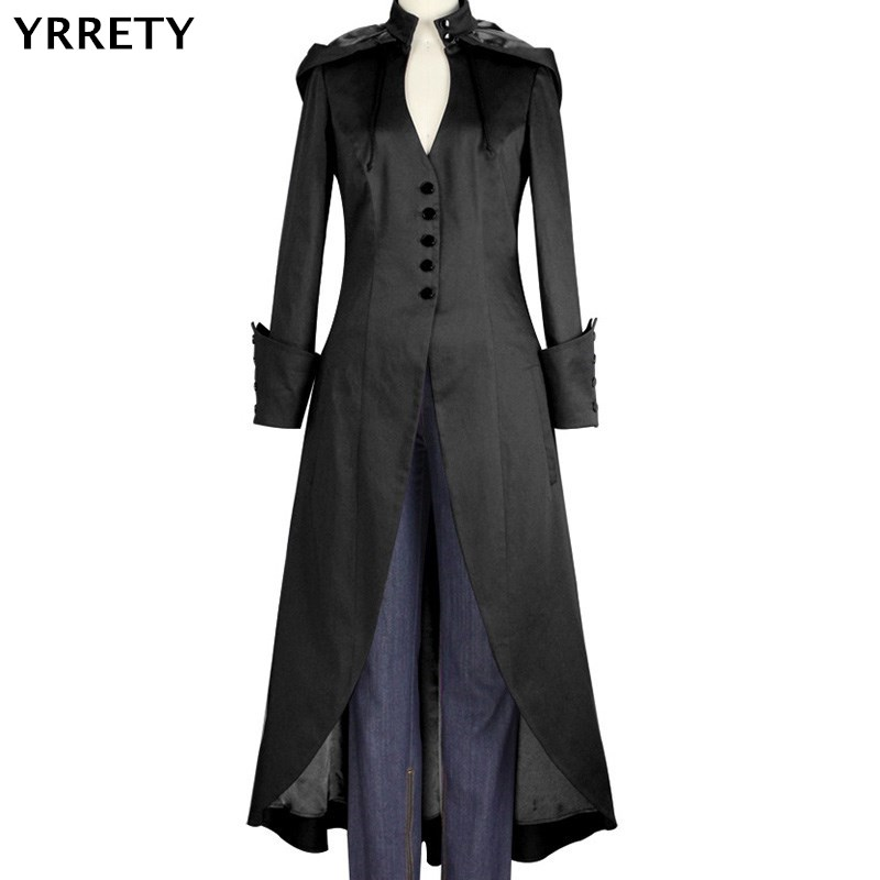 YRRETY Autumn Winter Women   Jacket   Coat XXXXL 4XL Plus Size Fashion Long Outerwear Irregular Hooded Collar Clothing   Basic     Jacket