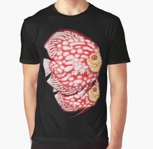 All Over Print 3D Women T Shirt Men Funny tshirt Discus fish Graphic T-Shirt(China)
