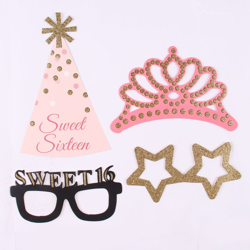 Sweet 16 Photo Booth Props - 20 pieces