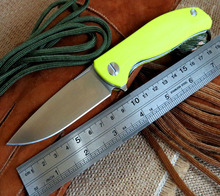 2016 Popular F3 Bearing system Floding knife Metal wire drawing D2 blade G10 handle hunting camping outdoor tool knife