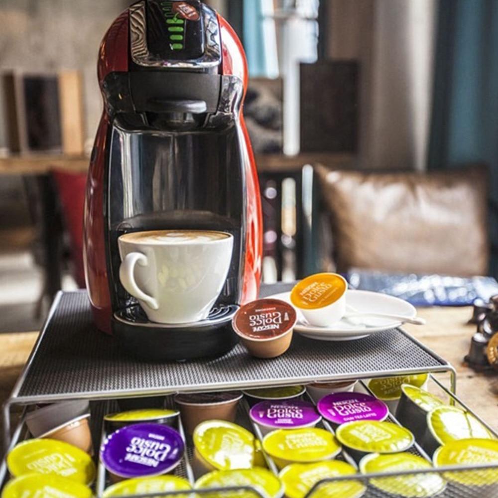54 pcs 36 pcs Capsule Nespresso Capsula Metallica Macchina per il Caffè Pod Holder Rack Capsula Contenitori per frigo e biancheria Organizer Set e Accessori da Caffè