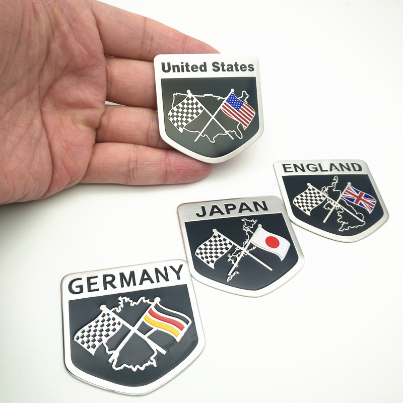 American Flag Metal Car stickers Decal Emblem Badge For Cadillac Buick Chevrolet